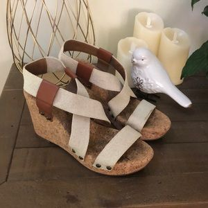 Lucky Brand Marla cork wedge sandal 8